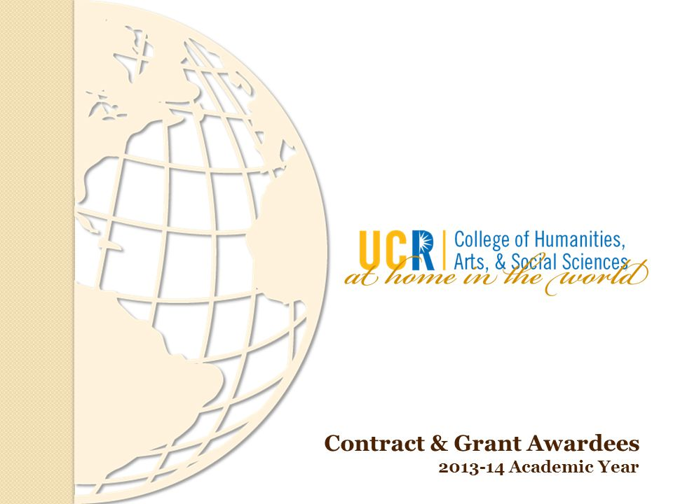 Contract & Grant Awardees 2013-14 Academic Year