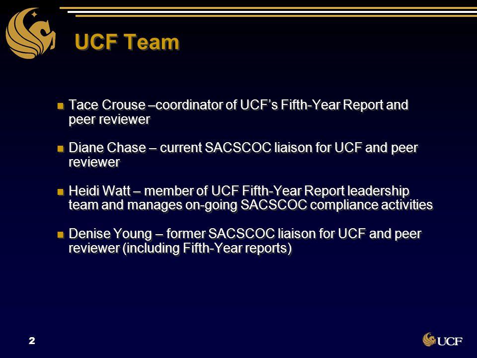 University of Central Florida 3 60,000 students 200+ programs Multiple campuses Research I University SACSCOC Level VI second largest university in U.S.