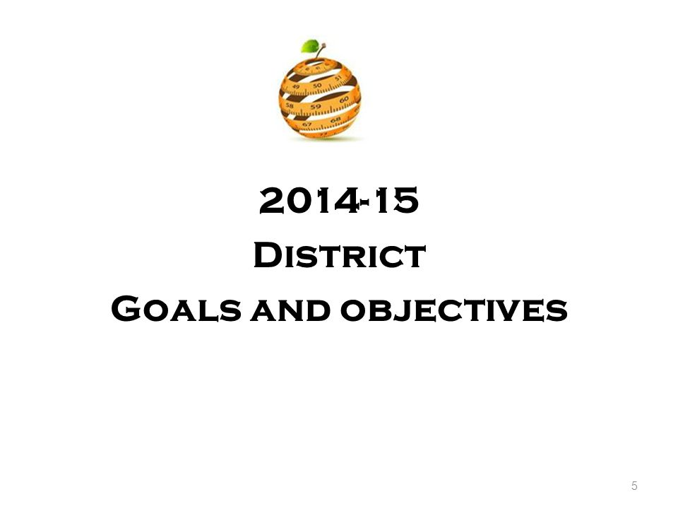 Orange Public Schools District Objectives and Goals 2014-2015 The District s goal is to prepare every student for success in college and career as a responsible citizen in a global society by guaranteeing equity and access to meaningful learning activities relevant to the 21st Century.