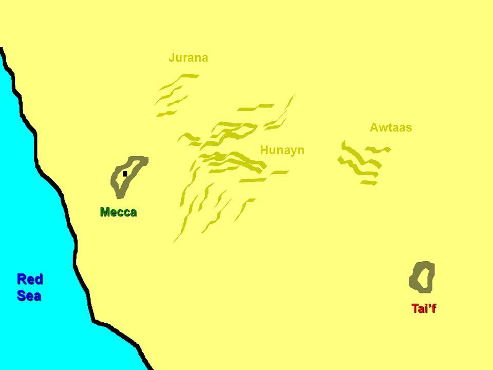 Mecca Hunayn Awtaas Jurana Tai'f RedSea