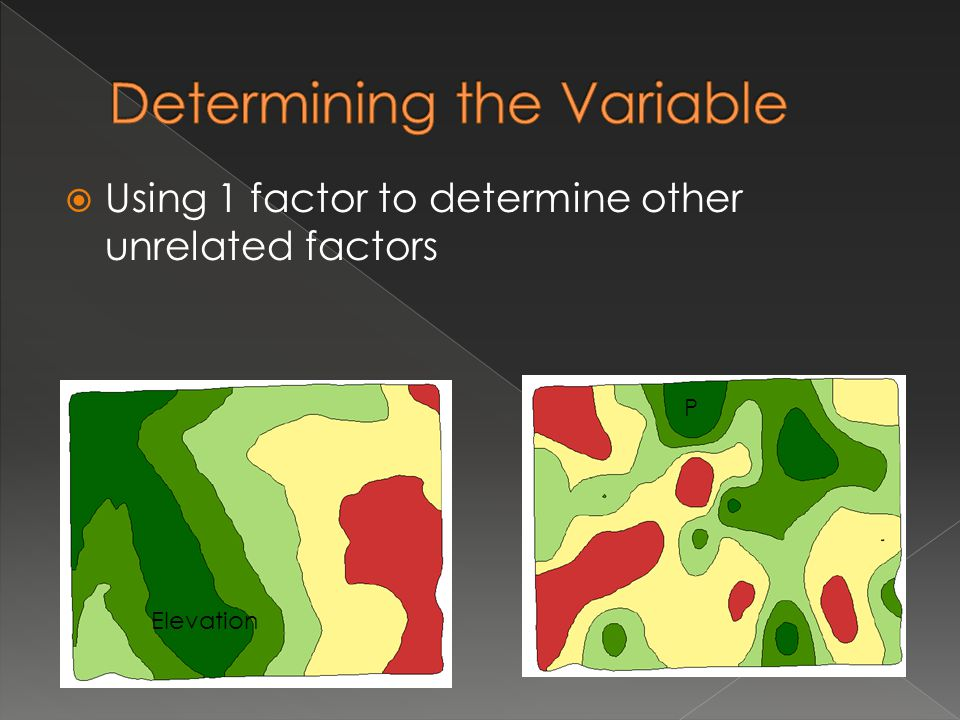  Using 1 factor to determine other unrelated factors P K P Elevation