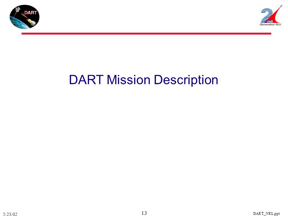 5/23/02 DART_NRL.ppt 13 DART Mission Description