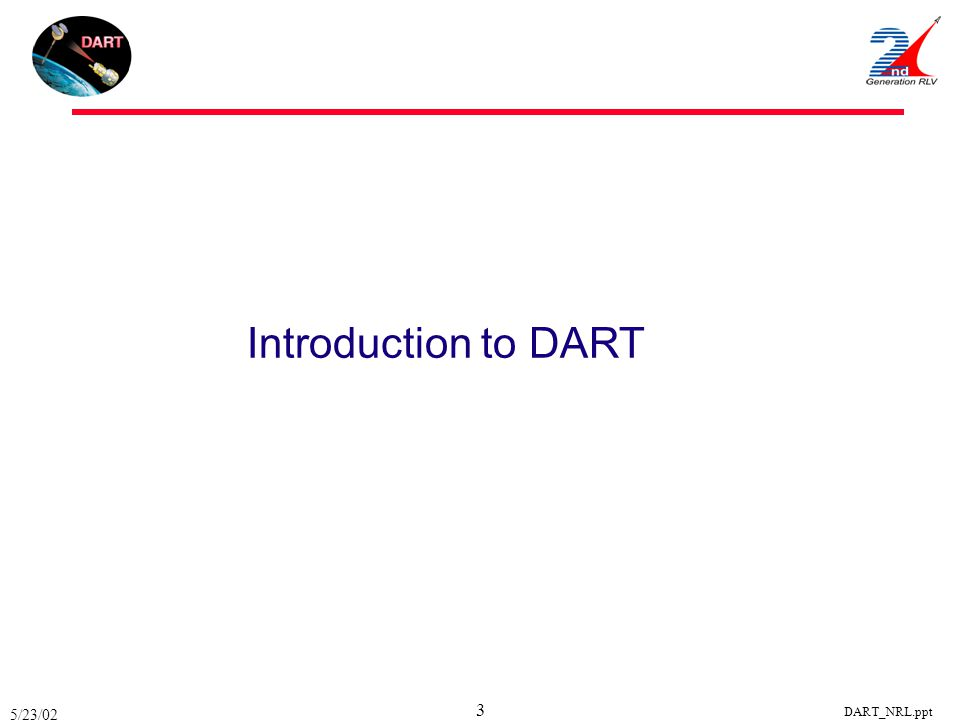 5/23/02 DART_NRL.ppt 3 Introduction to DART
