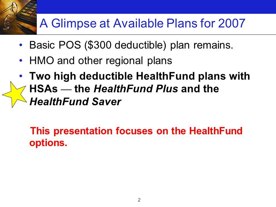 13 Drug Coverage for HealthFund Plans Similar to drug coverage under Basic POS.