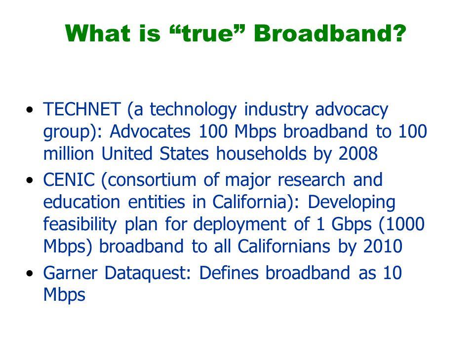 What is true Broadband.