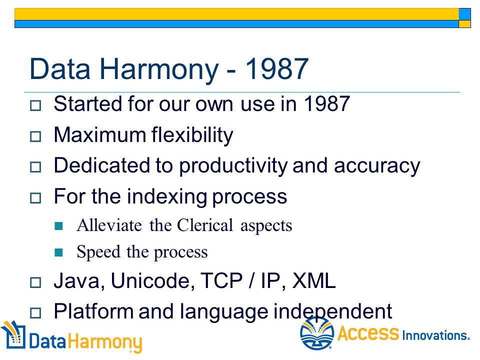 January 2007 The Data Harmony Modules  Thesaurus Master Taxonomy Creation  M.A.I.