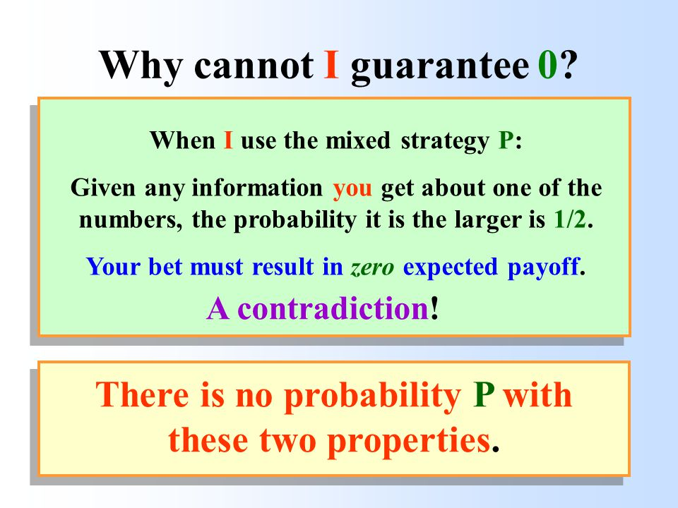 B Why cannot I guarantee 0.