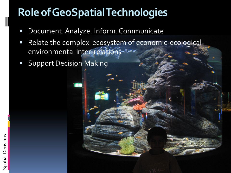 Spatial Decisions Role of GeoSpatial Technologies  Document.