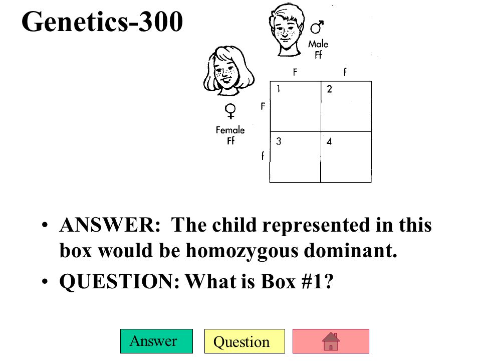 Question Answer Genetics-200 ANSWER: True/False: An autosomal trait will occur with equal frequency in both males and females. QUESTION: What is True?