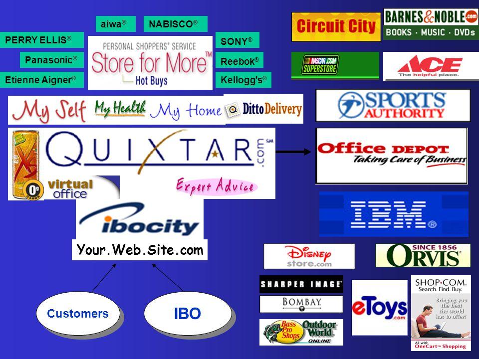 Customers IBO Reebok ® Etienne Aigner ® Kellogg's ® Panasonic ® PERRY ELLIS ® aiwa ® SONY ® NABISCO ® Your.Web.Site.com
