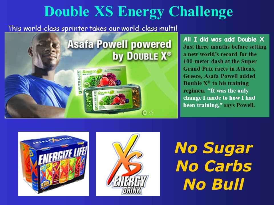 Double XS Energy Challenge This world-class sprinter takes our world-class multi.