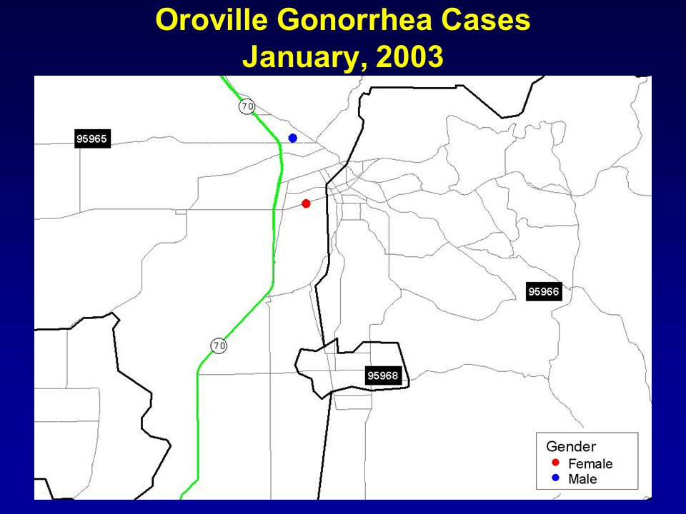 Oroville Gonorrhea Cases January, 2003