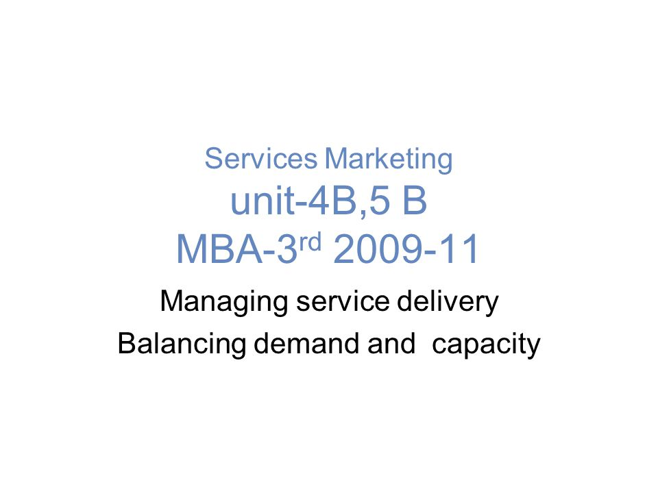 Relating Demand to Capacity: Four Key Concepts Excess demand: too much demand relative to capacity at a given time Excess capacity: too much capacity relative to demand at a given time Maximum capacity: upper limit to a firm's ability to meet demand at a given time Optimum capacity: point beyond which service quality declines as more customers are serviced