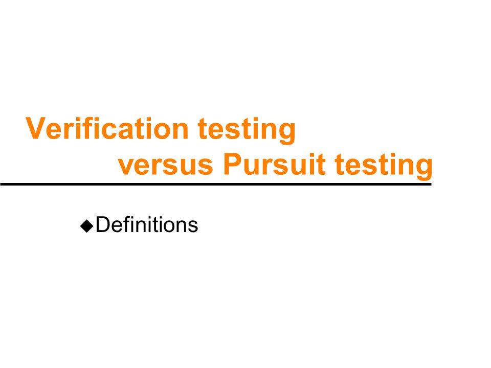 Design of test data