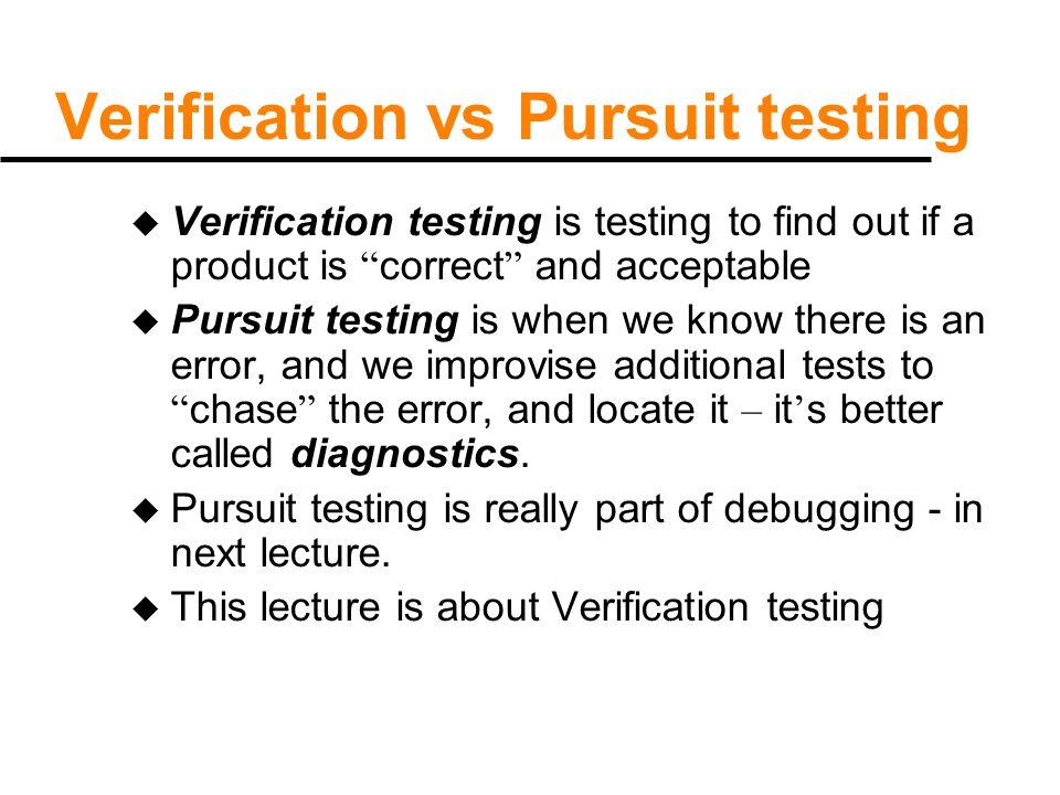Philosophy of testing u Key observations