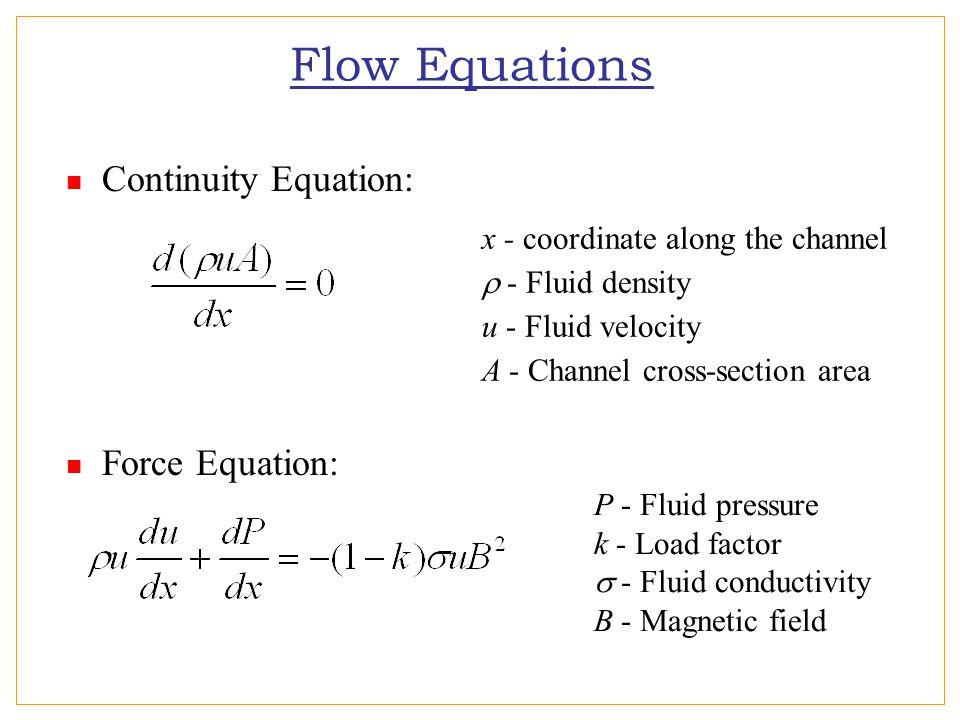 Flow Equations...