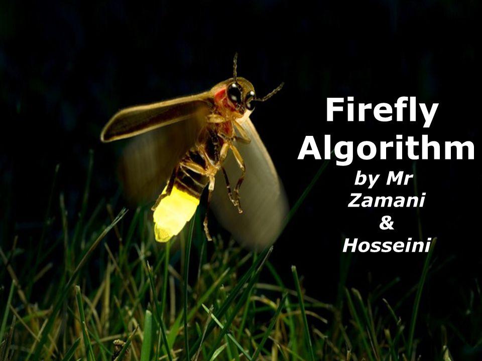 12 Firefly Algorithm Isfahan University of Technology. Fall 2010