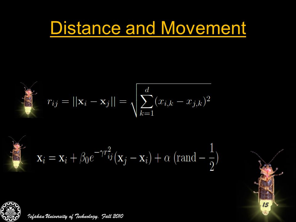 15 Distance and Movement Isfahan University of Technology. Fall 2010
