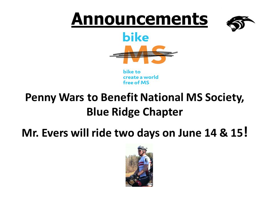 Announcements Penny Wars to Benefit National MS Society, Blue Ridge Chapter Mr.