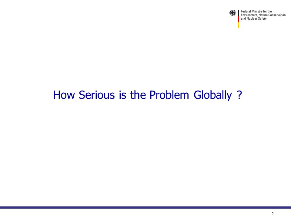 2 How Serious is the Problem Globally