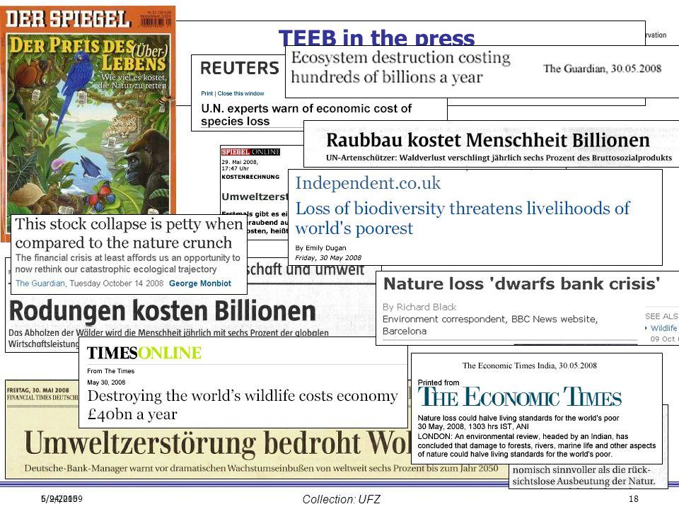 6/24/20095/9/201518 TEEB in the press Collection: UFZ