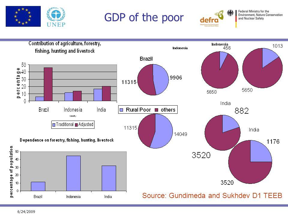6/24/2009 GDP of the poor Source: Gundimeda and Sukhdev D1 TEEB