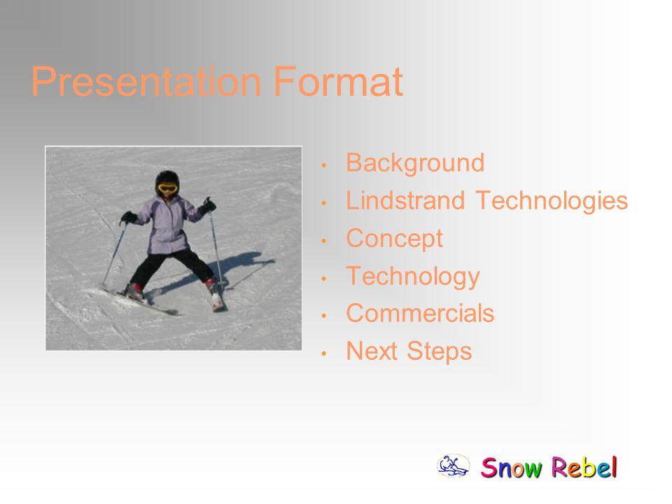 Snow RebelSnow RebelSnow RebelSnow Rebel Presentation Format Background Lindstrand Technologies Concept Technology Commercials Next Steps