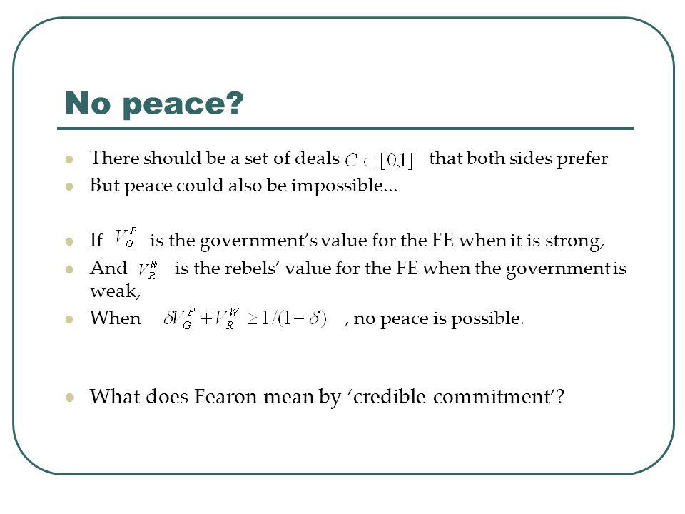No peace.