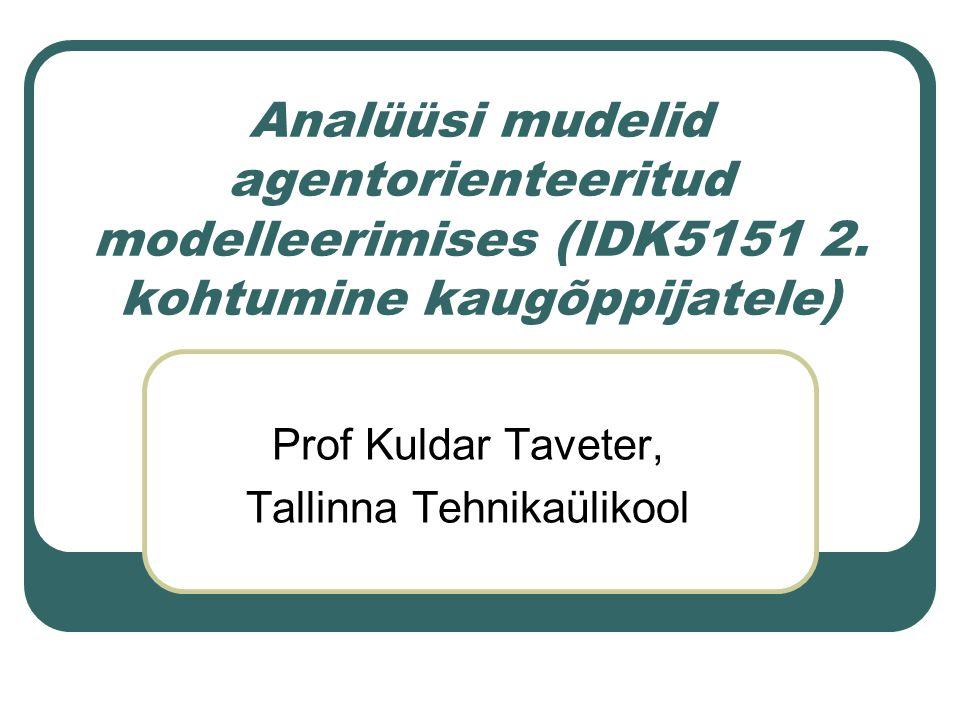 Analüüsi mudelid agentorienteeritud modelleerimises (IDK5151 2.