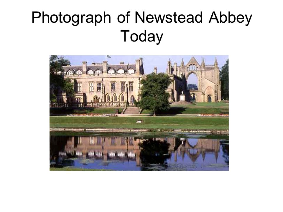 Photograph of Newstead Abbey Today