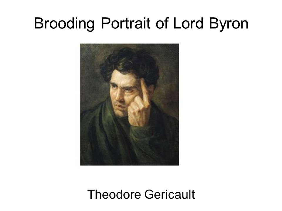 Brooding Portrait of Lord Byron Theodore Gericault