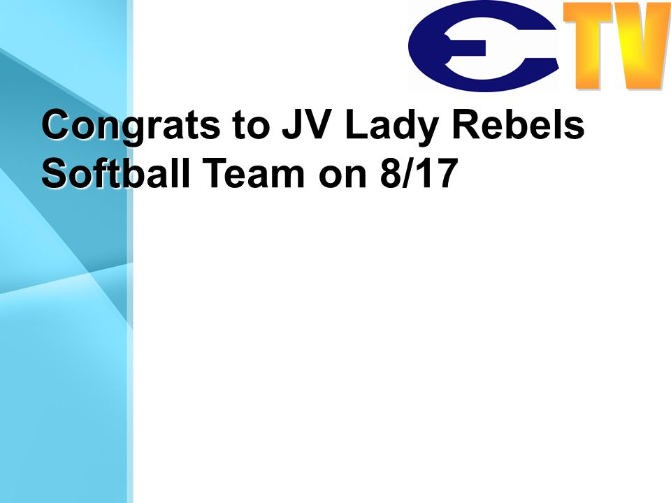 Congrats to JV Lady Rebels Softball Team on 8/17