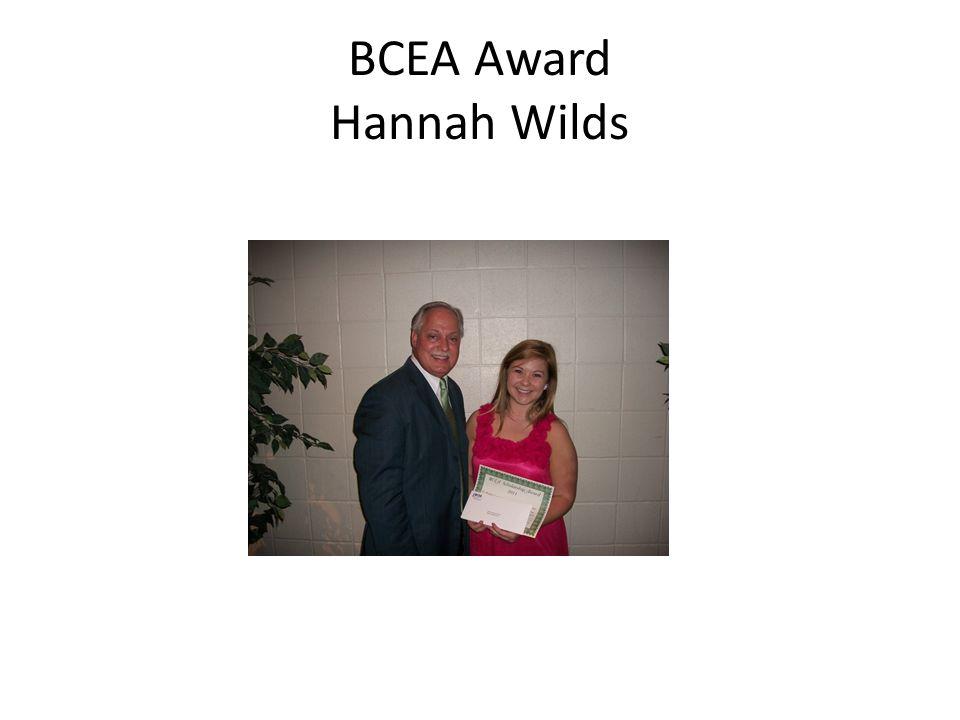 BCEA Award Hannah Wilds