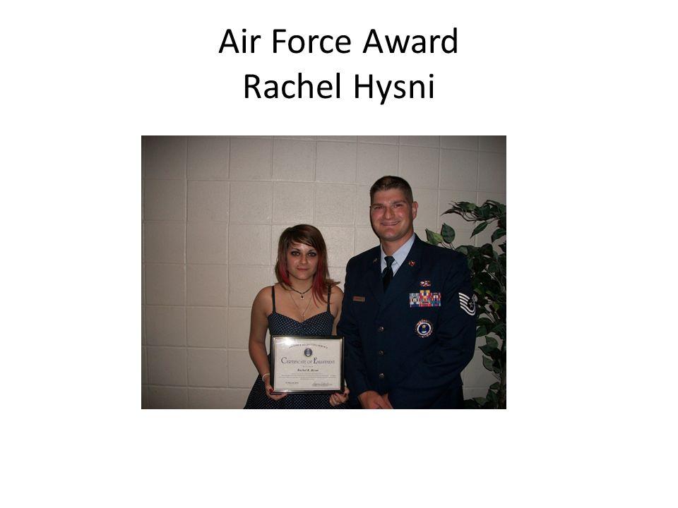 Air Force Award Rachel Hysni