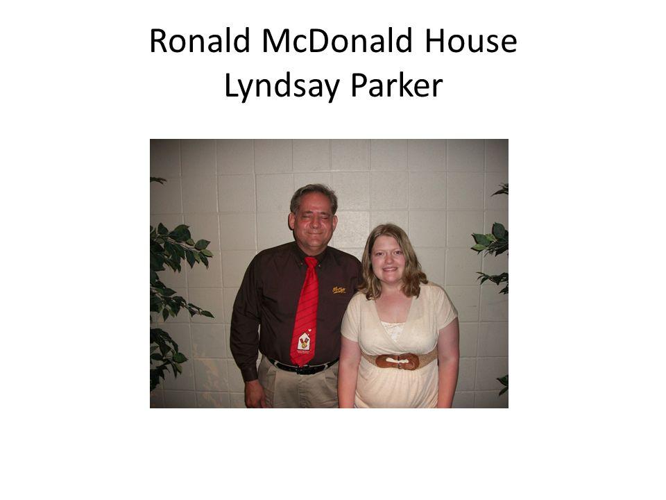 Ronald McDonald House Lyndsay Parker