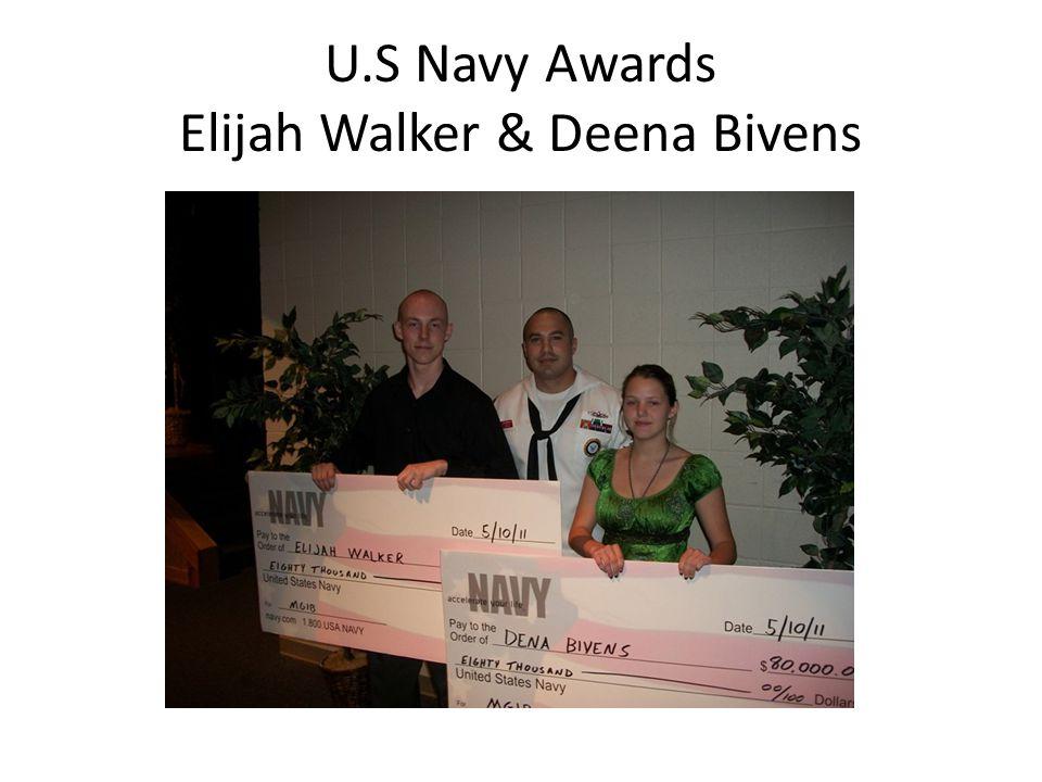 U.S Navy Awards Elijah Walker & Deena Bivens
