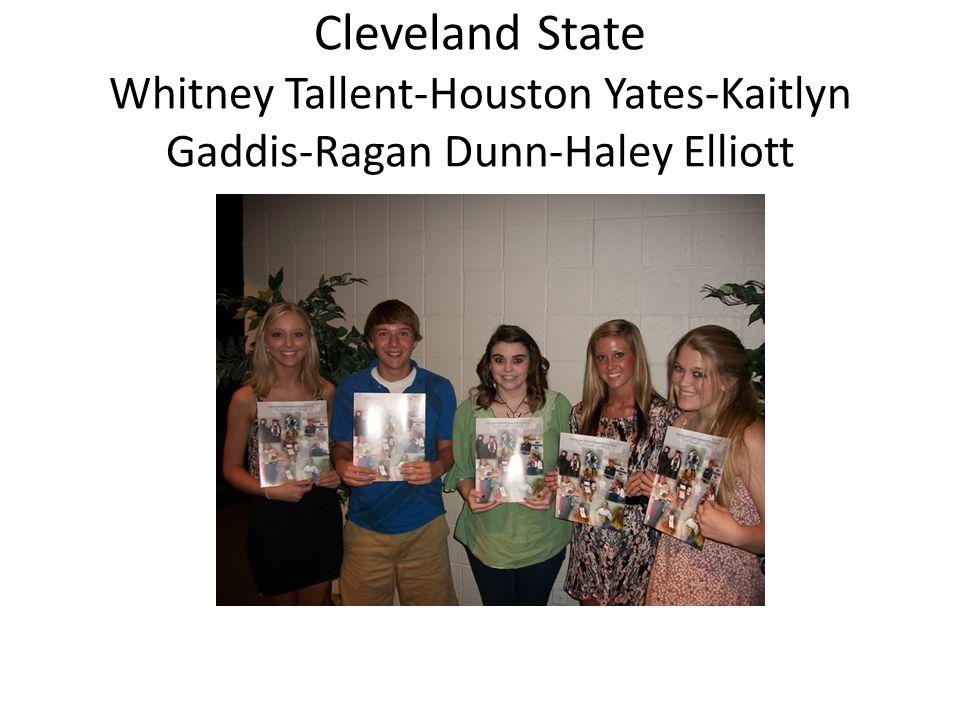 Cleveland State Whitney Tallent-Houston Yates-Kaitlyn Gaddis-Ragan Dunn-Haley Elliott
