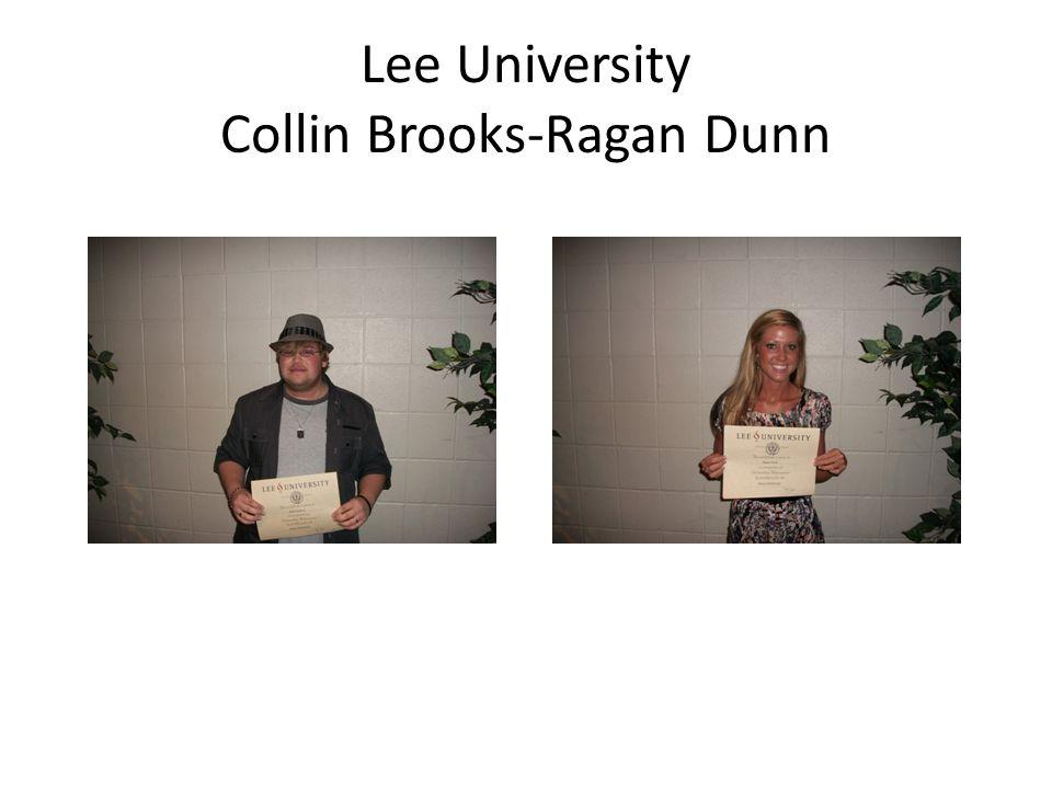 Lee University Collin Brooks-Ragan Dunn