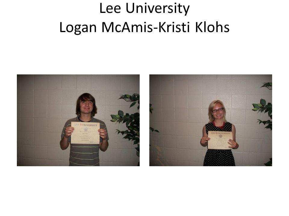 Lee University Logan McAmis-Kristi Klohs