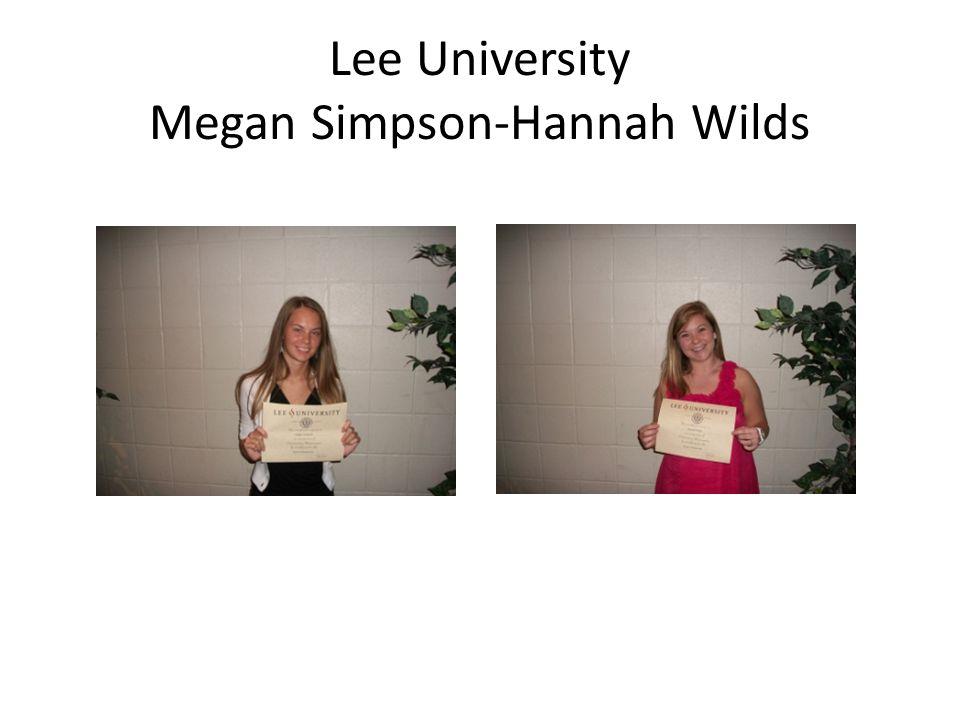Lee University Megan Simpson-Hannah Wilds