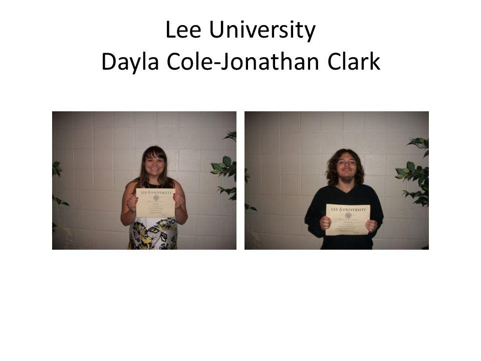 Lee University Dayla Cole-Jonathan Clark