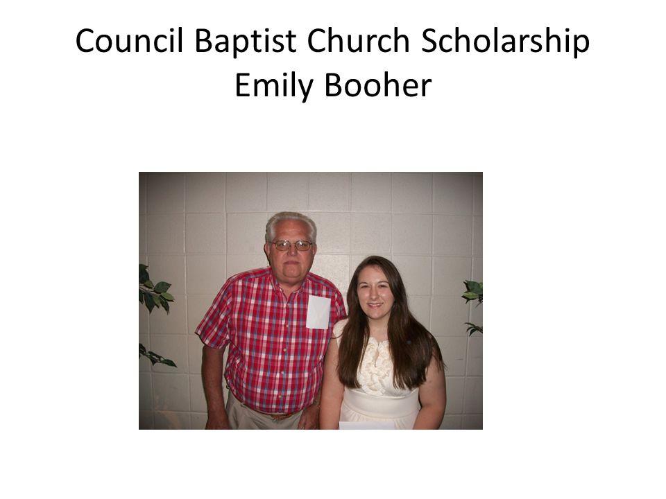 Council Baptist Church Scholarship Emily Booher