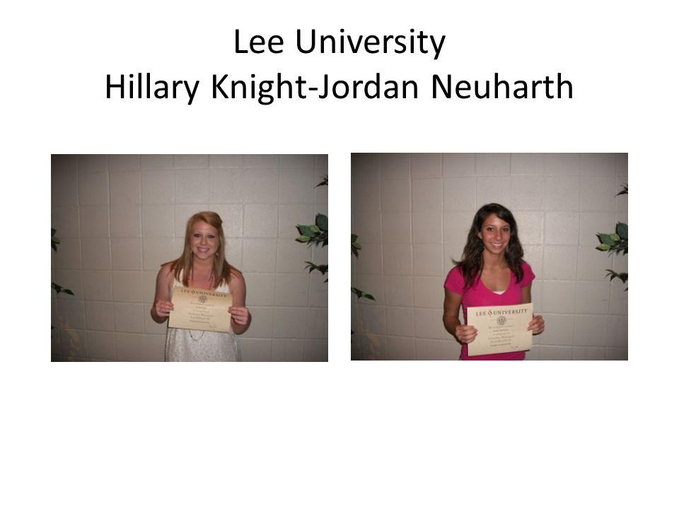 Lee University Hillary Knight-Jordan Neuharth