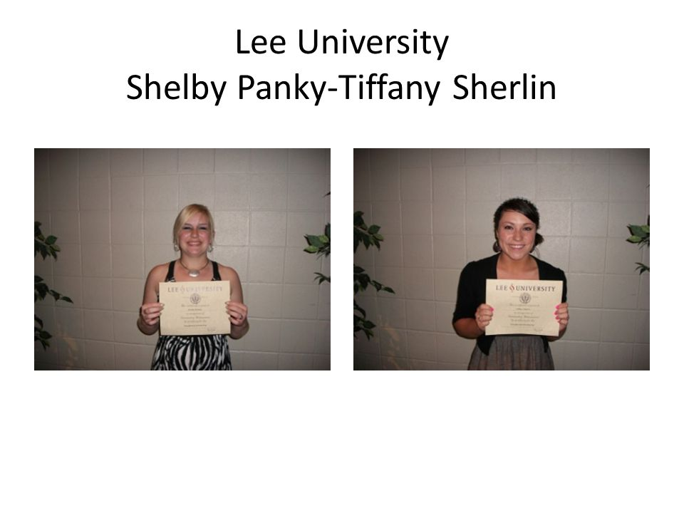 Lee University Shelby Panky-Tiffany Sherlin