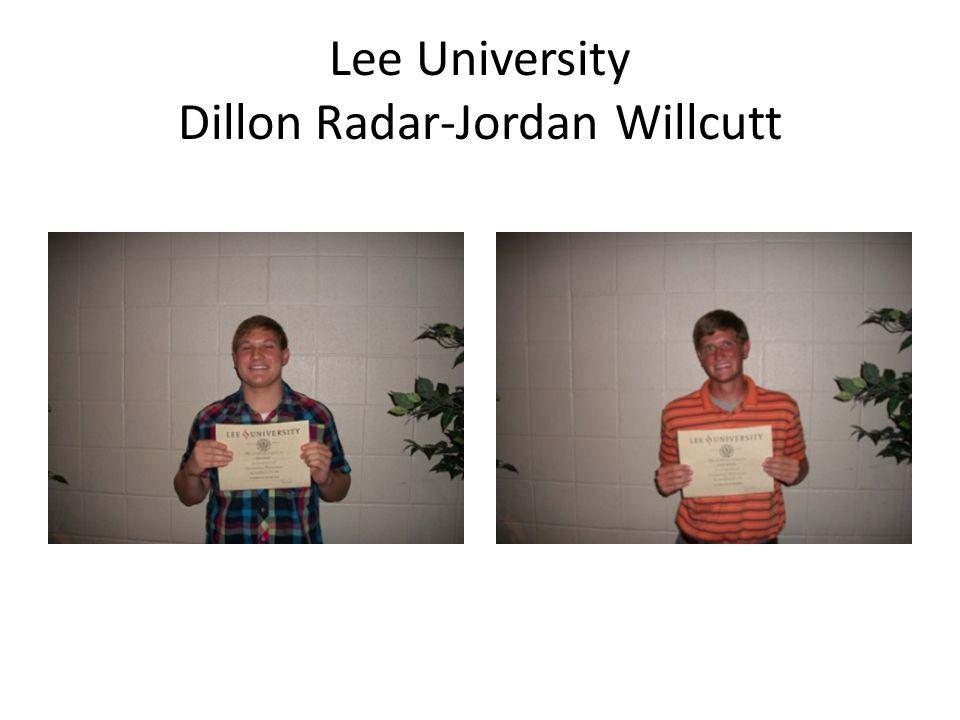 Lee University Dillon Radar-Jordan Willcutt