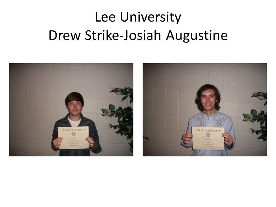Lee University Drew Strike-Josiah Augustine