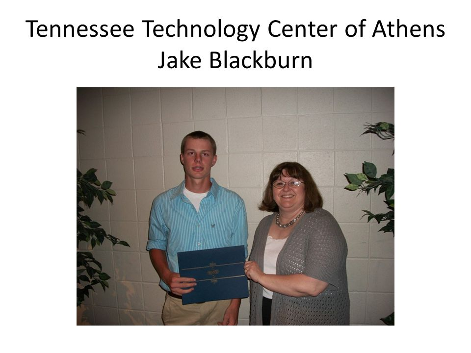 Tennessee Technology Center of Athens Jake Blackburn