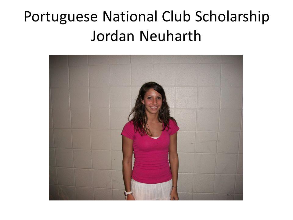 Portuguese National Club Scholarship Jordan Neuharth