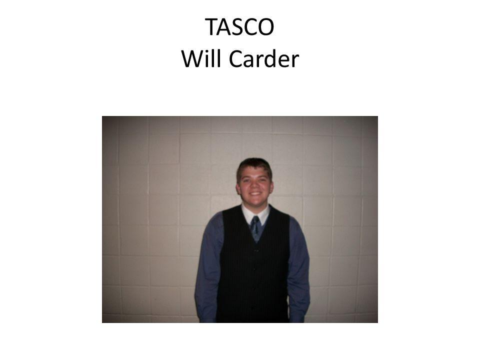 TASCO Will Carder