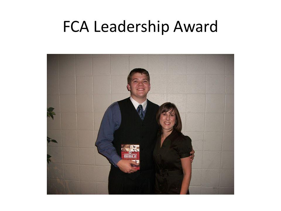 FCA Leadership Award